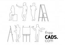 People and Art Bundle | FREE AUTOCAD BLOCKS