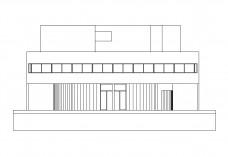Villa Savoye elevation | FREE AUTOCAD BLOCKS