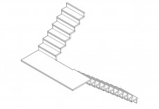 3D staircase | FREE AUTOCAD BLOCKS