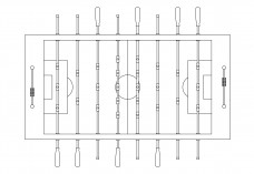 Foosball top view | FREE AUTOCAD BLOCKS