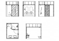 Bathroom set of drawings | FREE AUTOCAD BLOCKS