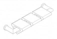 3D Bench | FREE AUTOCAD BLOCKS
