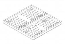 3D Backgammon | FREE AUTOCAD BLOCKS