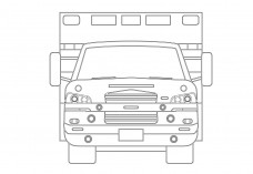 Ambulance Front view | FREE AUTOCAD BLOCKS