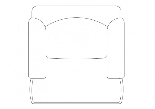 Armchair top view | FREE AUTOCAD BLOCKS