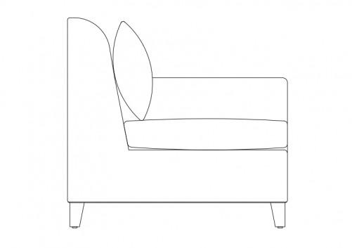 Sofa Elevation Free Cads