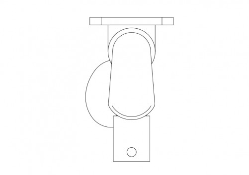 Urinal top view | FREE AUTOCAD BLOCKS