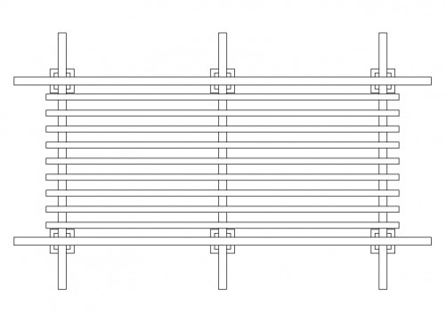 Pergola top view | FREE AUTOCAD BLOCKS