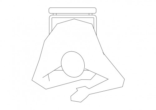 Person Sitting top view | FREE AUTOCAD BLOCKS