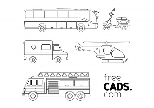 Construction Vehicles Bundle | FREE AUTOCAD BLOCKS