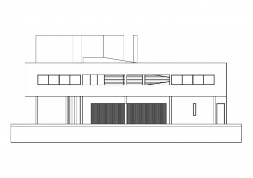 Villa Savoye floor plan | FREE AUTOCAD BLOCKS